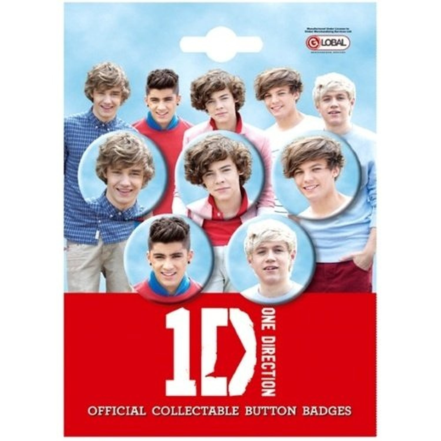 1D One Direction Pin Badges Set Of 5 Harry Zayn Liam 100% Official Genuine NEW