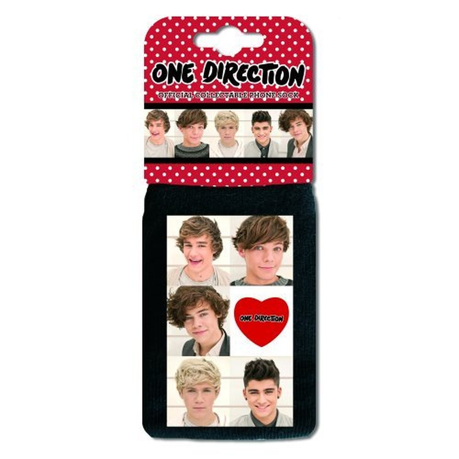 1D One Direction Black iPhone Blackberry Sock Heart Logo Cover Case Official
