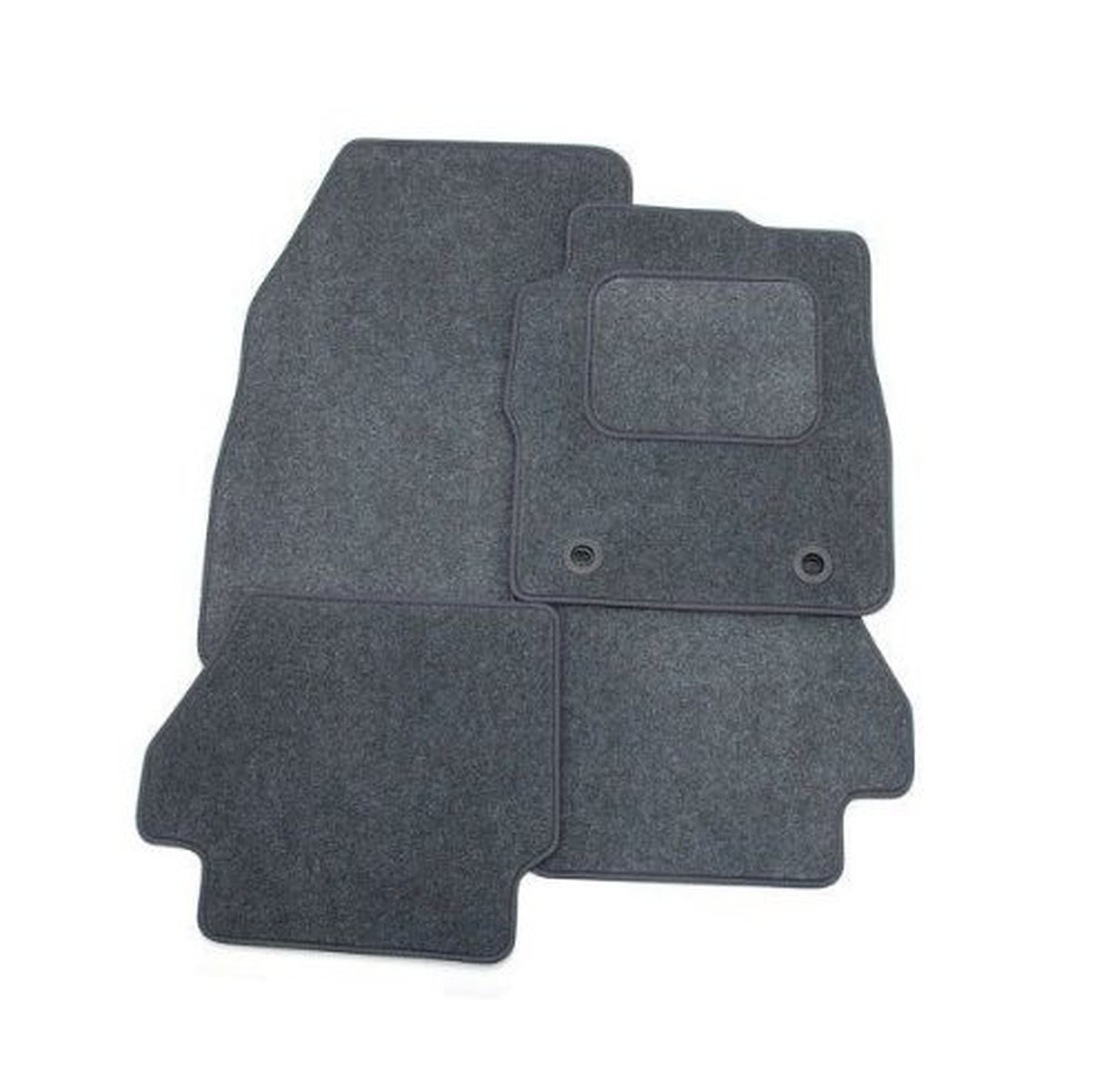 Ford Cougar 1998 - 2002 Full Set Of 4 Grey Velour Custom Exact Fit Car Carpet Floor Mats Twist-n-Turn Fixings By AoE PerformanceTM
