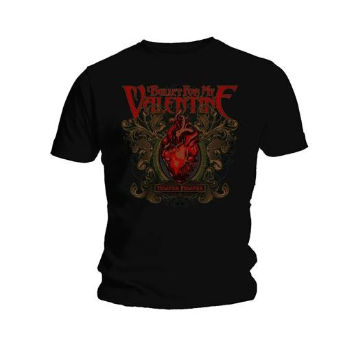 Bullet For My Valentine BFMV Mens Small T-Shirt Tee Black Temper Temper Heart
