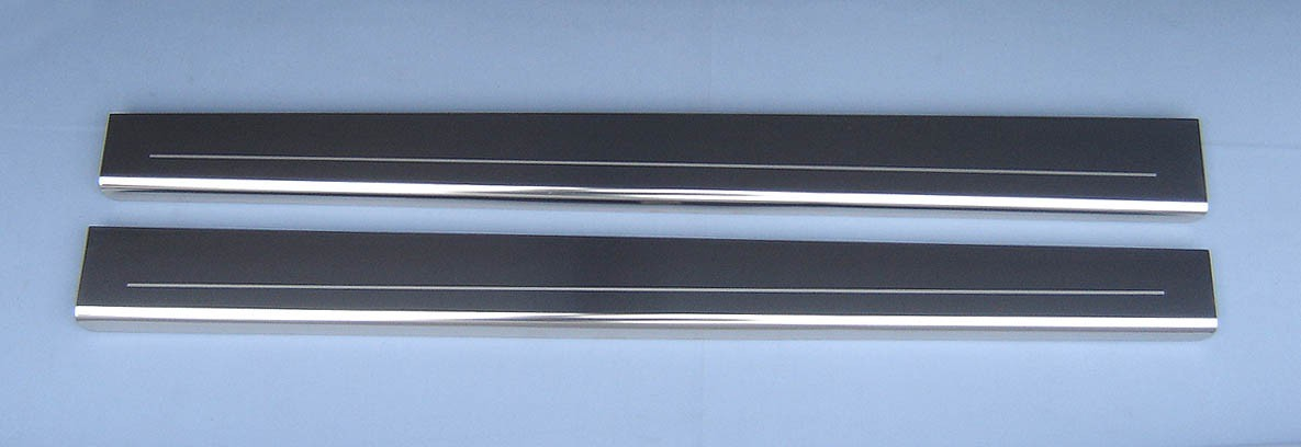 Vauxhall Corsa D 2 Dr Chrome Door Sills Protectors Kick Plates Stainless Steel