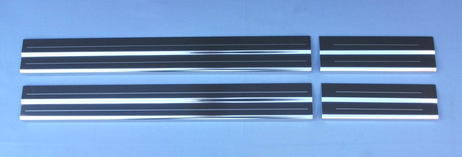 Nissan Note 04-12 Mk1 Chrome Door Sills Protectors Kick Plates Stainless Steel