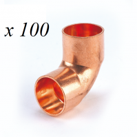 100 x Copper End Feed Elbow 90° 15mm F x F Fitting Plumbing Joining Pipe Water