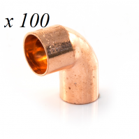 100 x Copper End Feed Street Elbow 90° 15mm M x F Fitting Plumbing Joining Pipe