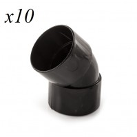 10 x Solvent Weld Obtuse Bend 45° x 32mm Black Fitting Plumbing Joining Pipe