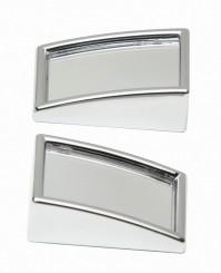 2x Car Chrome Blind Spot Mirrors Mini Convex External Rectangular 2 Pack 50x25mm