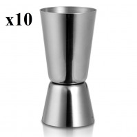Pack Of 10 Stainless Steel Double Single Shot Measure Jigger Spirit Bar Cocktail