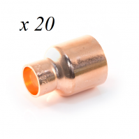 20 x Copper End Feed Reducer 22mm x 15mm M x F Fitting Plumbing Joining Pipe