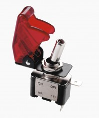 Top Gun Car Red Flip Switch Aircraft Style On Off Trigger Red LED Tuning Sport