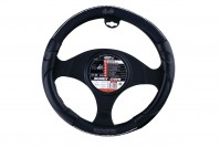Black Soft PVC Car Steering Wheel Cover Glove Spider Imitation Diamond Bling