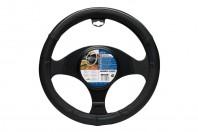 Car Steering Wheel Cover Glove Black Grey Silver Colour Line 37-39cm Universal