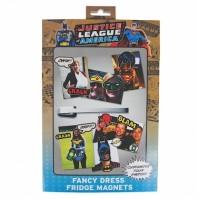 Fancy dress fridge magnet Justice League - Batman, Wonderwoman, The Flash and Green Lantern