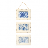 Cream Delilah Distressed Hanging Triple Picture Photo Frames Rustic Boho
