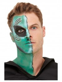 Alien Aqua Make Up FX With Green And Black Face Paint Accessories Kit