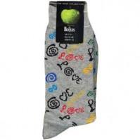 The Beatles Love Logo Grey Womens Ladies Girls Pair Socks 4-7 Fan Gift Official