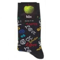 The Beatles Love Logo Blue Womens Ladies Girls Pair Socks 4-7 Fan Gift Official