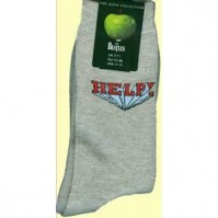 The Beatles Help Album Logo Grey Womens Ladies Girls Socks 4-7 Fan Gift Official