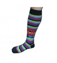 The Beatles Love Me Do Stripey Ladies Girls Knee High Socks 4-7 Apple Official