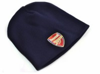 Arsenal Knitted Core Hat Navy Blue Beanie Fan Official Club Crest