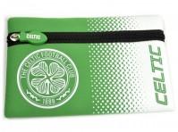Celtic Football Club Official Fade Zip Pencil Case School Flat Badge Crest