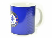 Chelsea FC Blue Fade Design Football Club Crest Fan Gift Boxed Mug Dots Official