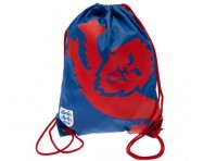England FA Football Club Red Lion Draw String Blue Bag School Gym  Crest Badge