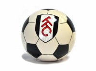 Fulham FC Football Club Ceramic Black White Piggy Bank Money Box Ball Official