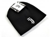 Juventus Football Club Official Black Knitted Beanie Hat Crest Badge Winter