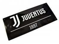 Juventus Football Club Official Metal Black Street Sign 1897 Wall Hanging Badge