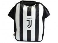 Juventus Football Club Official Black And White Kit Lunch Bag School Crest Shirt