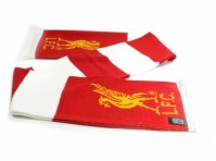 Liverpool FC Red White Striped Fan Game Team Match Scarf Scarves LFC Official