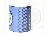 Manchester Man City FC Blue White Fade Football Fan Gift Boxed Mug New Badge Official