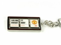 Manchester Utd FC Football Club Spinning Keyring Sir Matt Busby Way Official