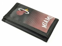 Miami Heat Tri-Fold Wallet  Fastening Team Crest Basketball NBA Black