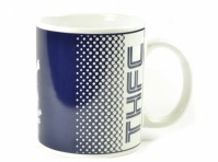 Tottenham Hotspurs Spurs FC Blue White Fade Football Fan Gift Boxed Mug Official