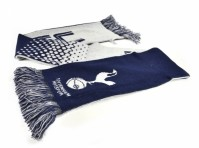 Tottenham Hotspur Spurs FC Football Club White Blue Fade Design Scarf Badge