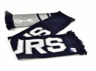 Tottenham Hotspur Spurs Football Club Scarf Navy Grey Jacquard Badge  Official
