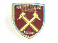 West Ham Utd Hammers Football Club Metal Pin NEW Badge Shield Crest Official