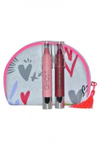 Ghost Girl Cosmetic Bag With 2 Lip Crayons Hearts Make Up Cosmetic Accessories