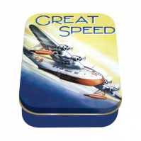 Golden Age of Transport Great Speed Classic Retro Vintage Storage Tin Box
