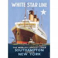 Golden Age Of Transport Small Tin Metal Sign White Star Line Southhampton