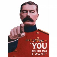You Are The Man I Want Small A5 Tin Metal Steel Sign WW2 Retro