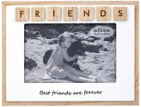 Natural Rustic Vintage Wood White Best Friends Picture Photo Frames Landscape