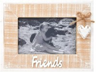 Natural Rustic White Washed Friends Heart Picture Photo Frames