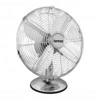 Benross 12 Inch Chrome Desk Fan 3 Speed Adjustable Cooling Air Oscillating