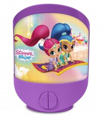 Shimmer and Shine Lenticular 3D Night Light With Timer Free Standing Bedroom