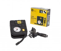 AA Official Car Essentials Tyre Inflator Compact Lightweight Cigarette Socke