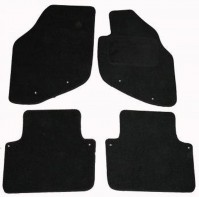 Volvo S80 (2006 Onwards Model) Tailored Black Car Mats With Fixing Clips