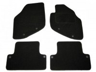 Volvo V80 (2000+) Tailored Black Car Mats With Fixing Clips