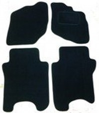 Mercedes CLK 2003 Onwards Black Tailored Floor Car Mats Set Premium Carpet